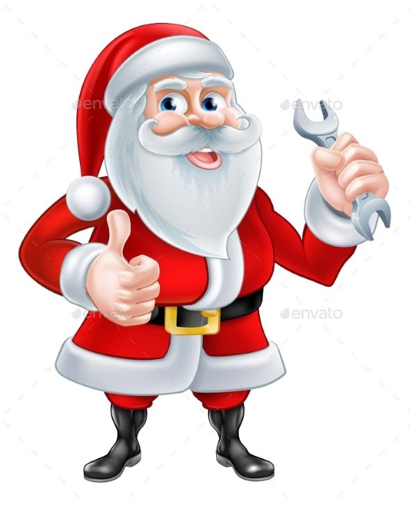 Santa Mechanic Concept - Seasons/Holidays Conceptual