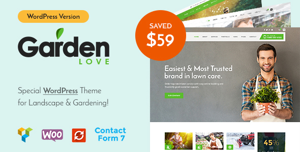 GardenLove - Gardening & Landscaping WordPress Theme - Business Corporate