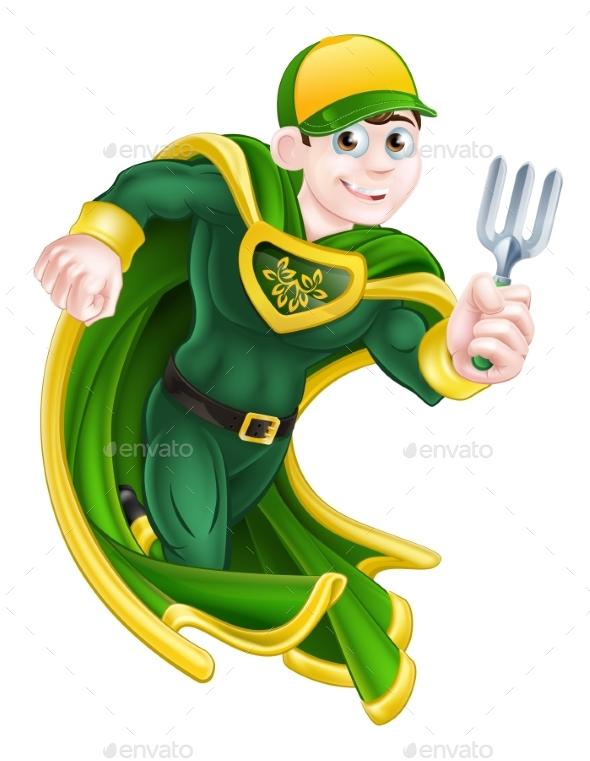 Gardener Super Hero - Miscellaneous Vectors