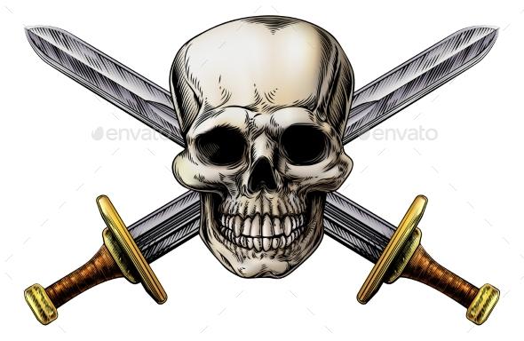 Cross Swords and Skull - Miscellaneous Vectors