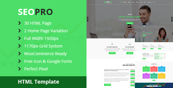 SeoPRO – SEO and Digital Marketing HTML5 Template
