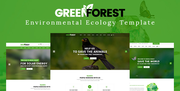 Image of GreenForest - Environmental Ecology Responsive Template