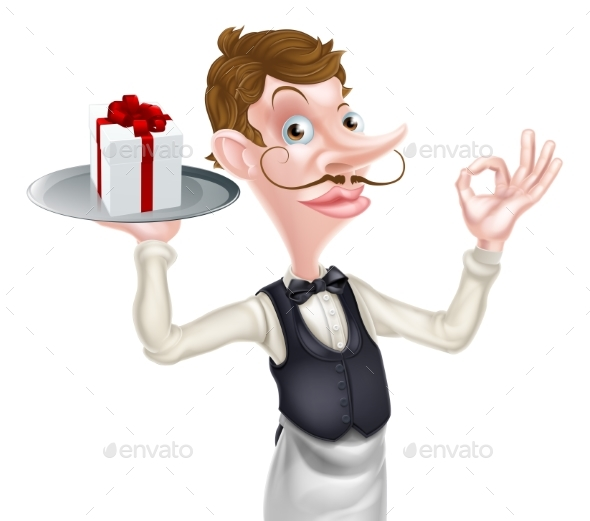Gift Waiter Perfect Sign - Miscellaneous Vectors