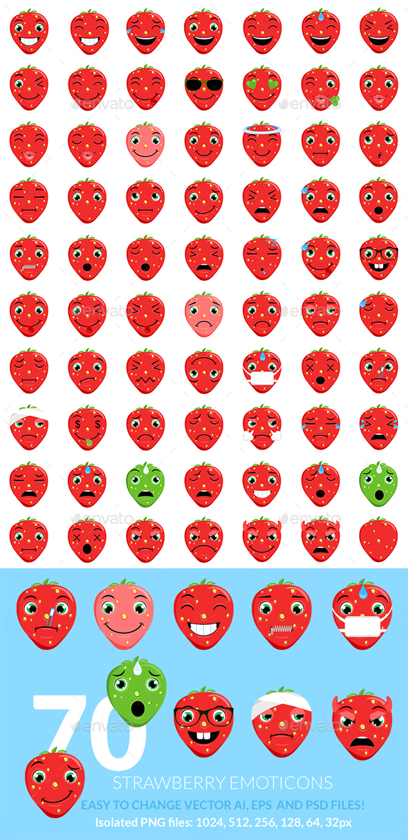 Strawberry Emoticons - Miscellaneous Characters