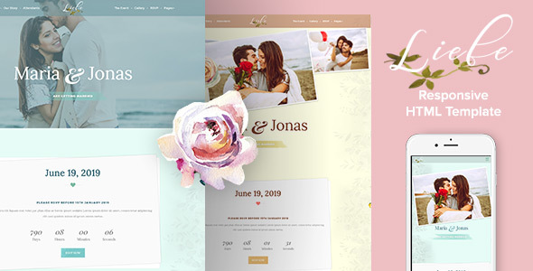 Liebe – Responsive HTML Wedding Template