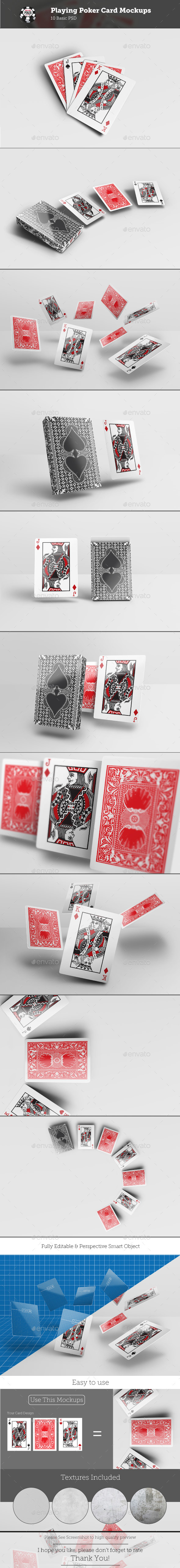 Playing Poker Card Mockups - Miscellaneous Print