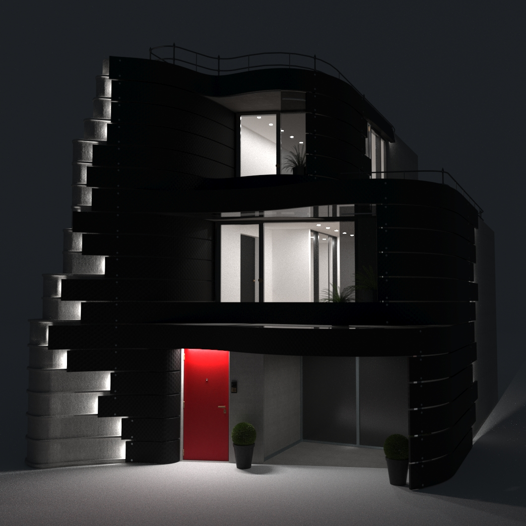 The facade of the house in Tokyo by designer Don Arad