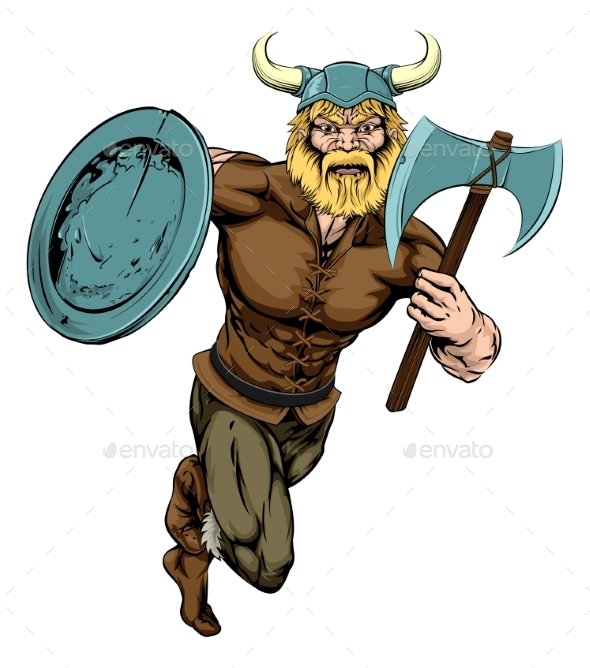 Viking Axe Warrior - People Characters