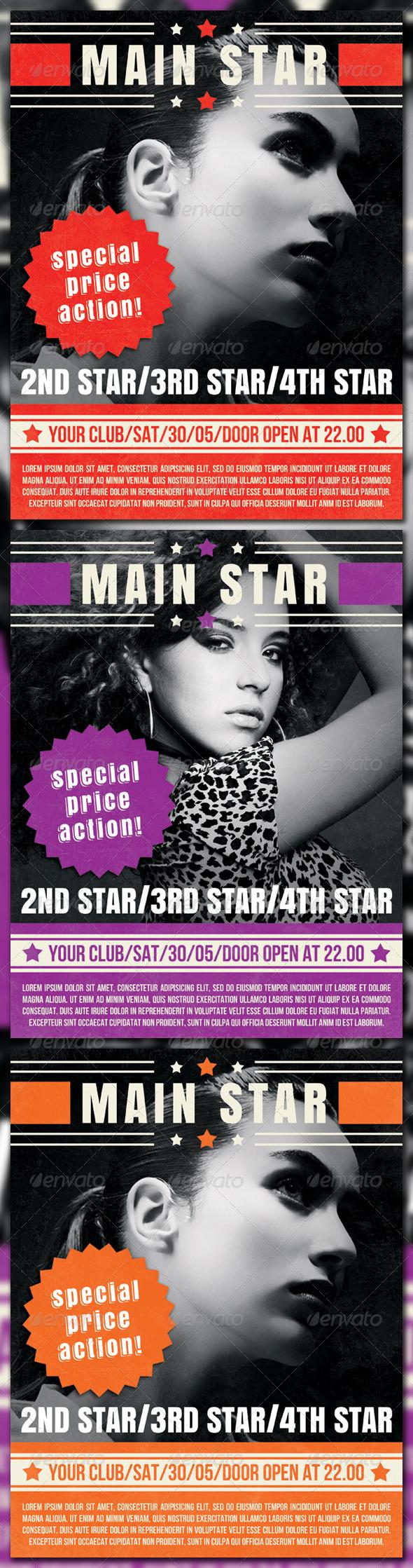 Stars Poster - Flyers Print Templates
