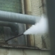 Steam Coming out From a Tube Pipe