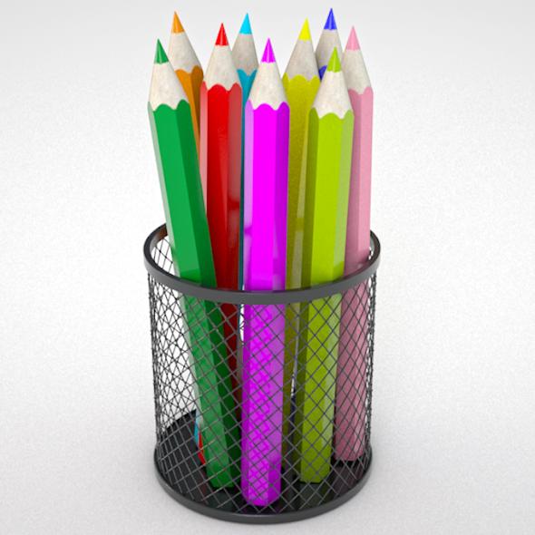 colorful pencils - 3DOcean Item for Sale