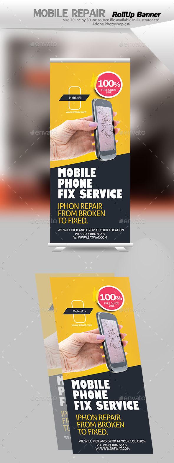 Cellular Repair Billboard - Signage Print Templates