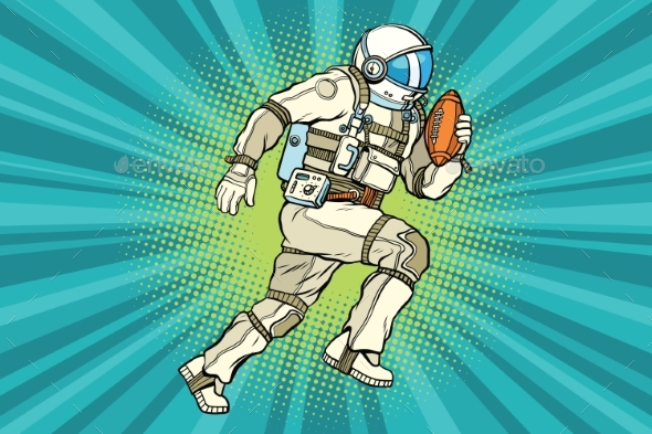 Astronaut Athlete American Football - Sports/Activity Conceptual