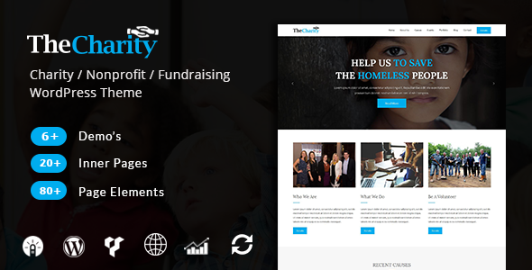 Image of The Charity - Charity / Nonprofit / Fundraising WordPress Theme