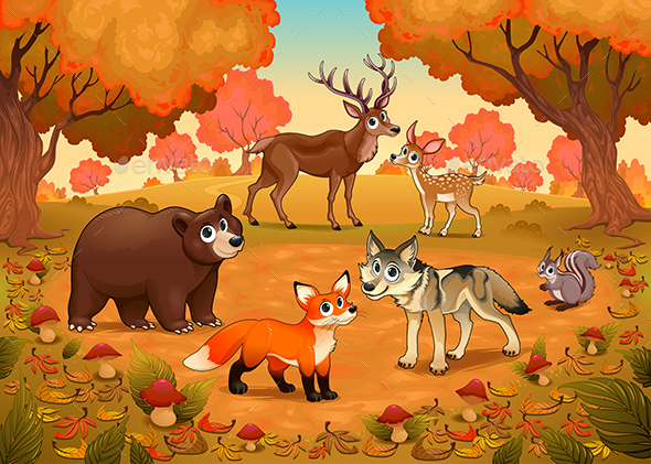 Animals in the Wood - Animals Characters