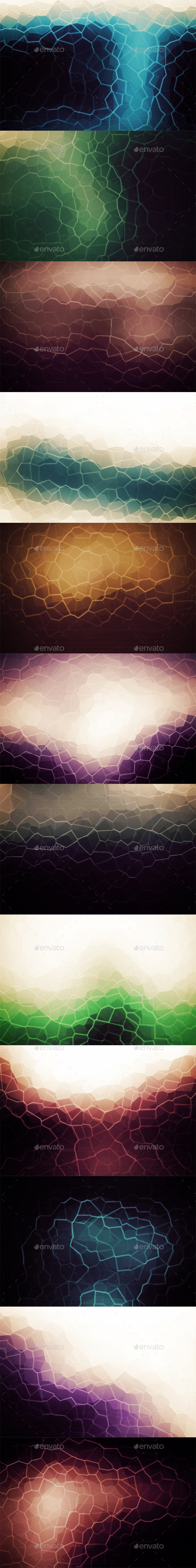 Crystallized Backgrounds Vol16 - Abstract Backgrounds