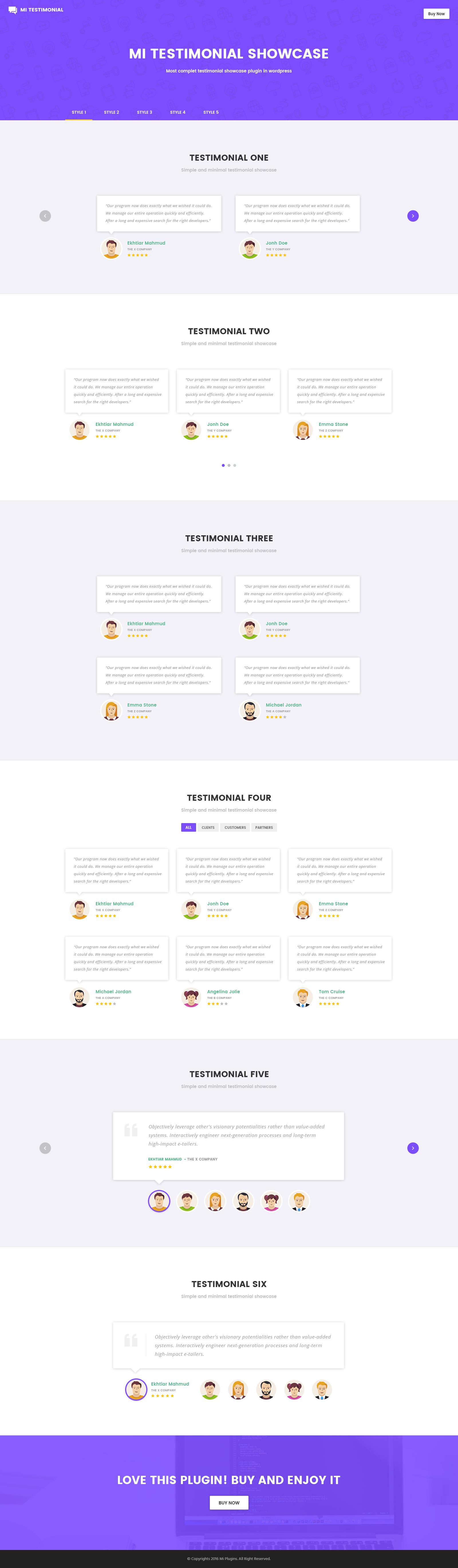 Mi Testimonials Showcase for Visual Composer WordPress Plugin