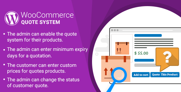 WordPress WooCommerce Quote System Plugin - CodeCanyon Item for Sale