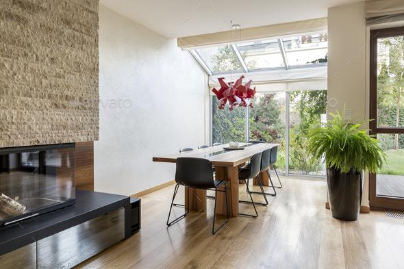 Minimalistic dining area - Stock Photo - Images