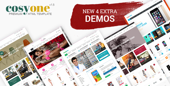 CosyOne - Furniture, Interior, Drugstore, Lingerie, Electronics, Clothing HTML Template - Retail Site Templates