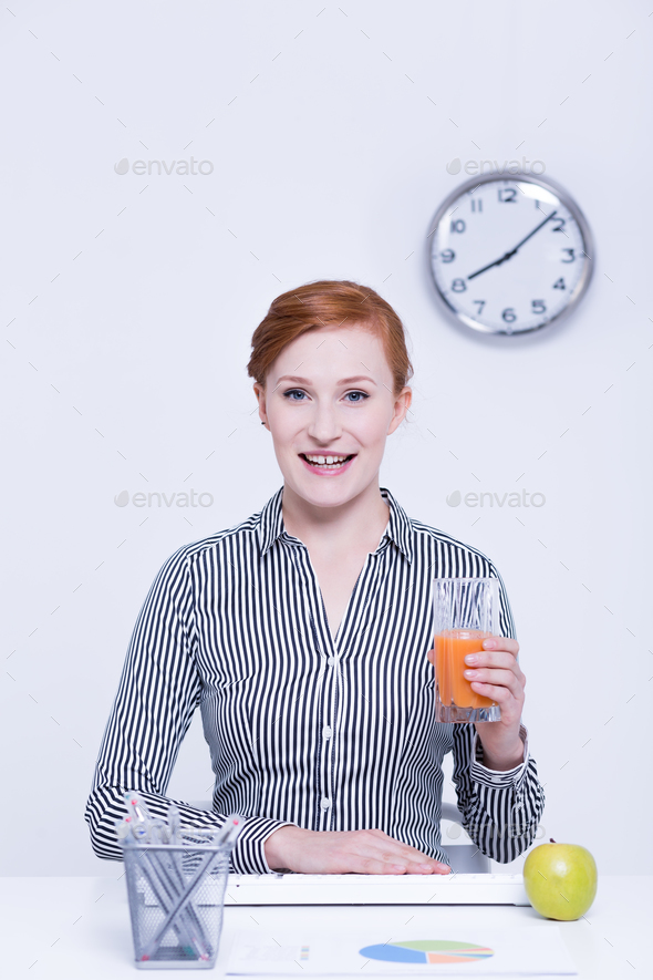 Lunch break in office - Stock Photo - Images