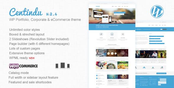 Centindu Portfolio & Shop WordPress Theme