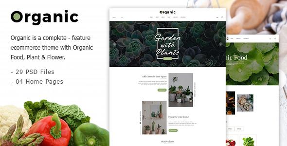 Organic - Responsive Organic Food & Store PSD Template - Food Retail