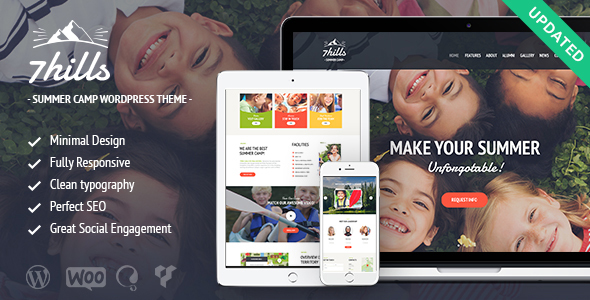 SevenHills - Summer Camp WordPress Theme - Children Retail
