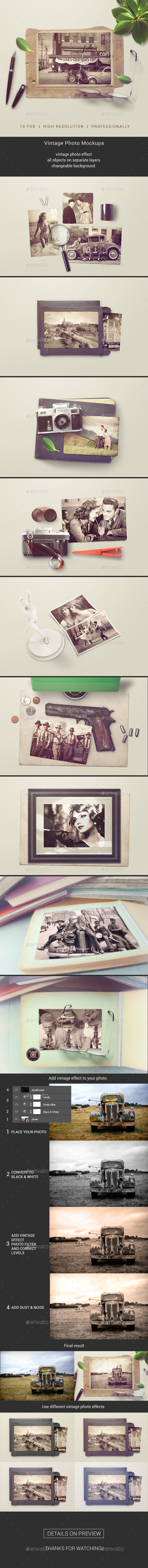 Vintage Photo Mockups - Miscellaneous Print
