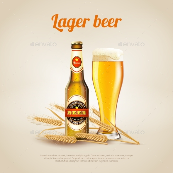 Lager Beer Background - Food Objects