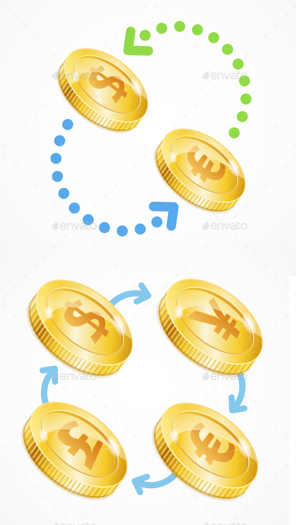 Money Currency Exchange Concept - Miscellaneous Vectors