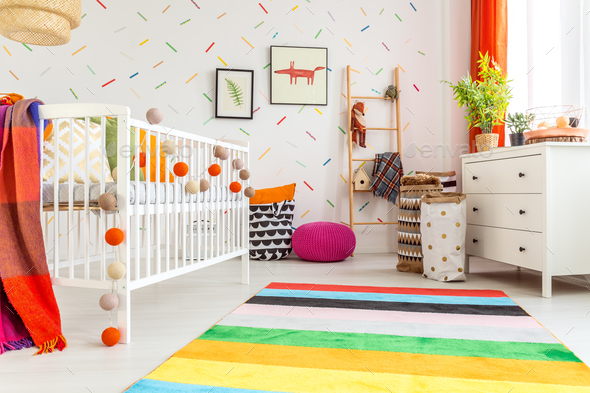 Newborn room in scandi style - Stock Photo - Images