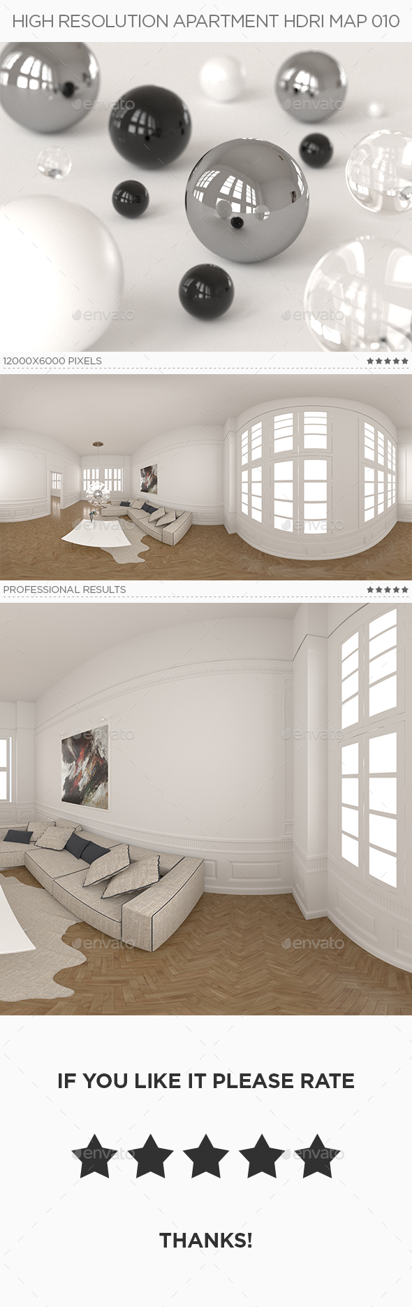 High Resolution Apartment HDRi Map 010 - 3DOcean Item for Sale