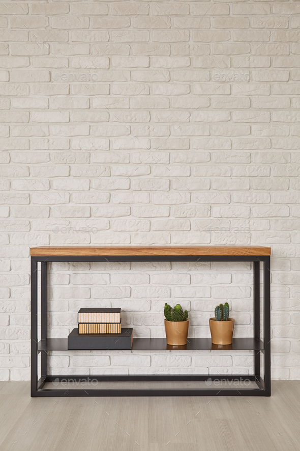 Furniture from metal and wood - Stock Photo - Images