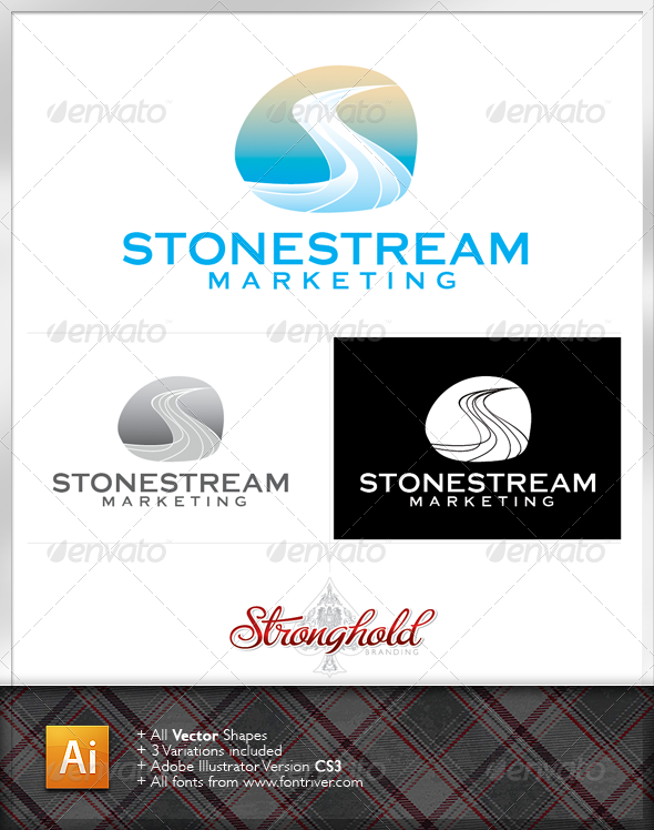 Stone Stream Logo template - Letters Logo Templates