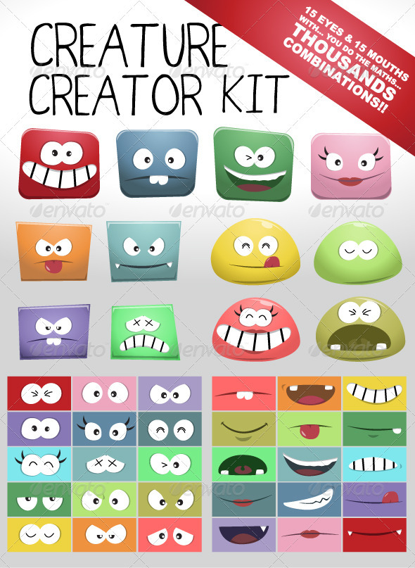 Bloppy Character Creator Kit - Monsters Characters