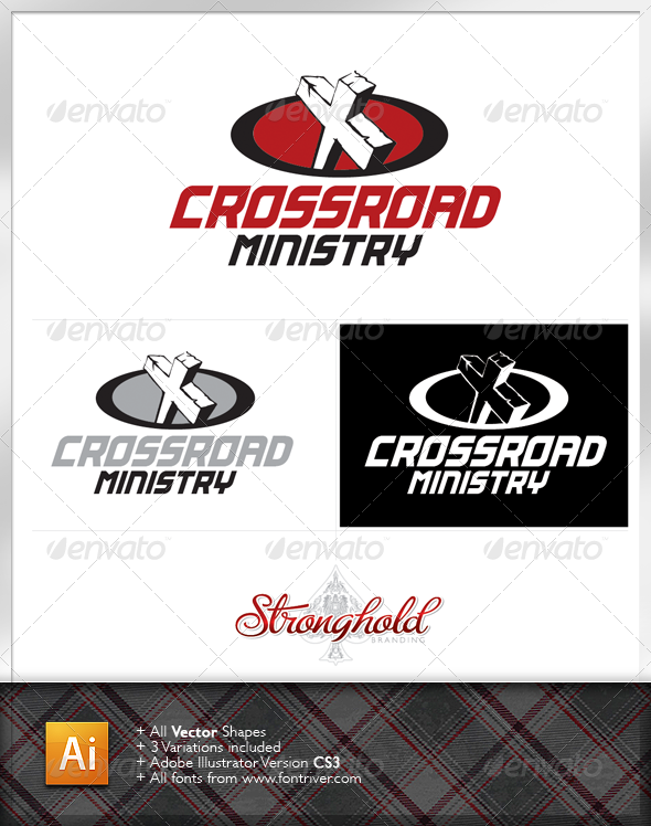 Crossroad Ministry Logo Template - Crests Logo Templates