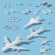 Various Passenger Airplanes and Maintenance - GraphicRiver Item for Sale