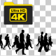 Silhouettes of People Walking - 4K - VideoHive Item for Sale