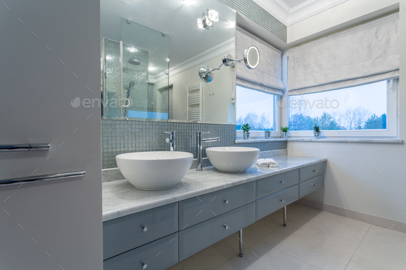 Modern bathroom interior - Stock Photo - Images