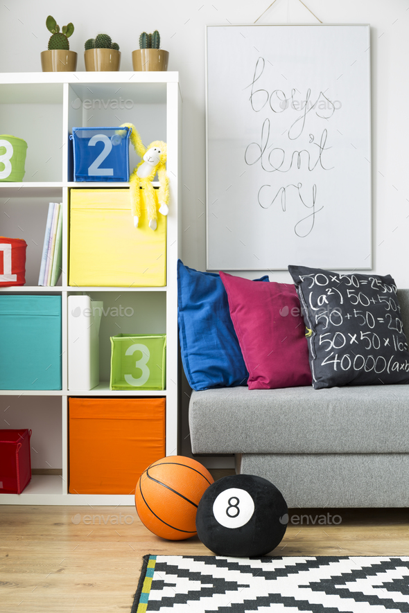 Colourful room with toys - Stock Photo - Images