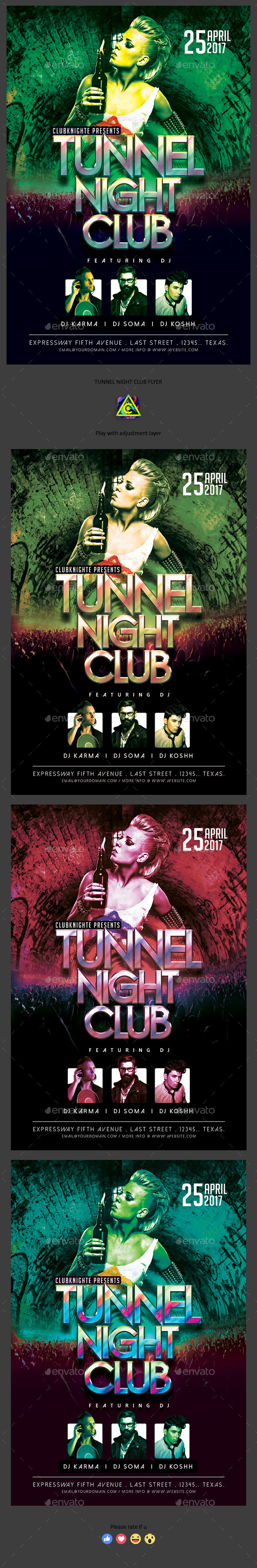 Tunnel Night Club Flyer - Clubs & Parties Events