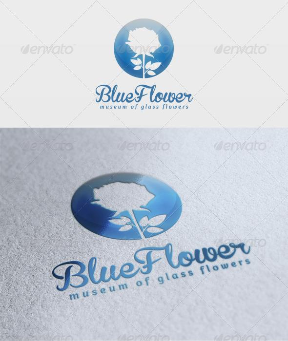Blue Flower Logo  - Nature Logo Templates