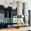 Stylish black open kitchen - PhotoDune Item for Sale