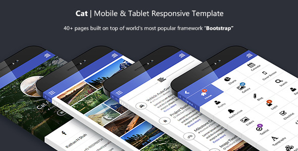Cat Multipurpose Mobile and Tablet Bootstrap Template