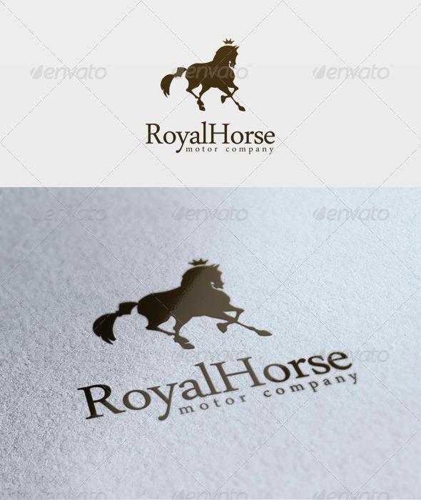 Royal Horse Logo - Animals Logo Templates