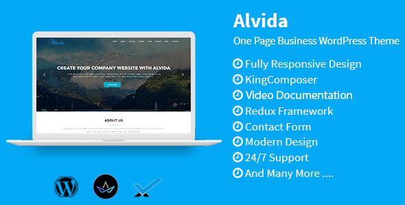 Alvida – One Page Business WordPress Theme