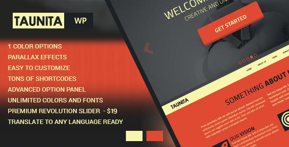 Taunita - Multi-Purpose WordPress Theme - Corporate WordPress