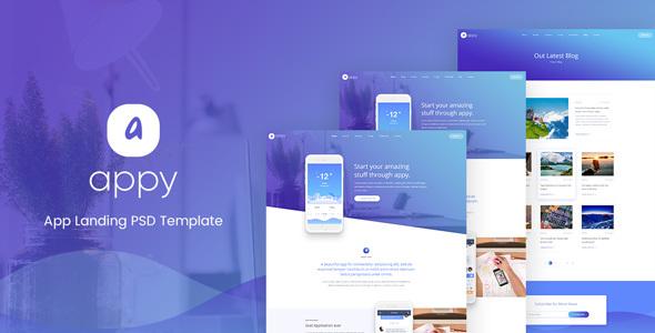 Appy App Landing PSD Template