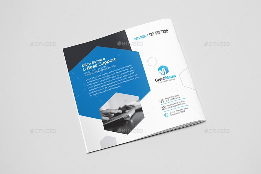 Square Brochure Mockup by krzysztofbobrowicz | GraphicRiver